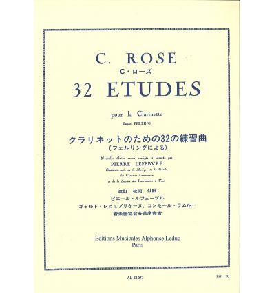 32 Etudes d'après Ferling (éd. Leduc)