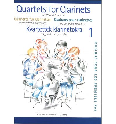 Clarinet quartets for beginners vol.1 (4 sib ou 3 ...