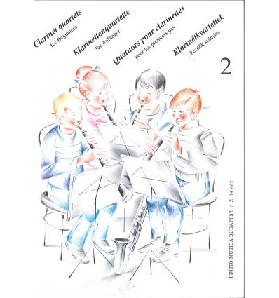 Clarinet quartets for beginners vol.2 (4 sib ou 3 ...