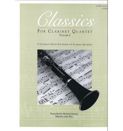 Classics for clar. quartet vol.2: 3rd Bb clar.(sco...