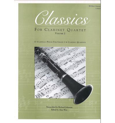 Classics for clar. quartet vol.2: 4th bass cl.(sco...