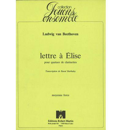 Lettre a elise (4 cl : 3 sib + Cl. Basse)