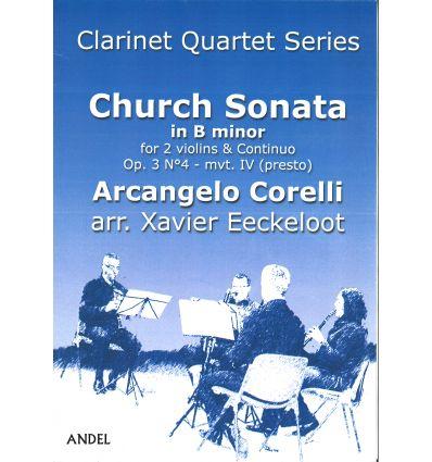Sonata da chiesa in B minor, Presto (arr. 4 clarin...