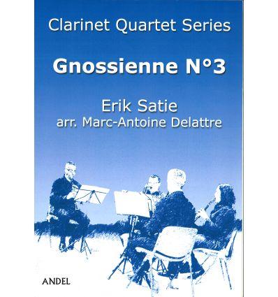 Gnossienne N°3, arr. quatuor de clarinettes (3 sib...
