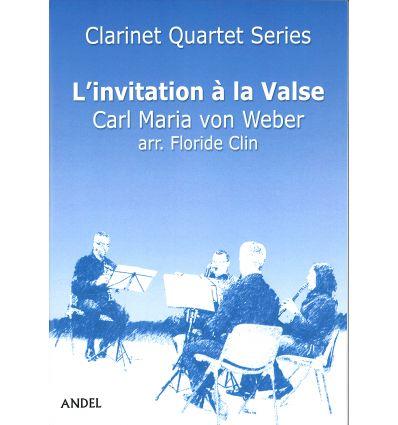 L'invitation à la valse, arr. pour quatuor de clar...