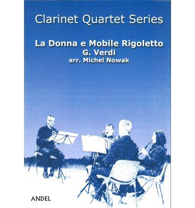 La Donna e Mobile (Rigoletto) 4 clar. (3 sib & bas...