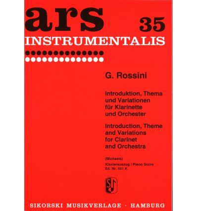 Introduktion, Thema und variationen (Cl & piano) e...