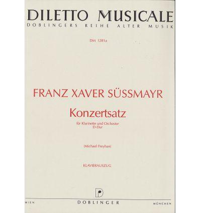 Konzertsatz in D-Dur (réd. cl la & piano) 1791, ed...