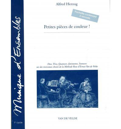 Petites pièces de couleur (trios à sextuor: fl cl vn vc piano(JingleBells,Greensl.,Suzannah,WhenTheSai