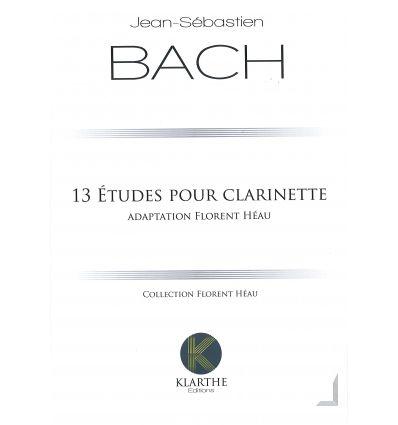 13 Etudes pour clarinette, adapt. F. Heau. Extr. d...