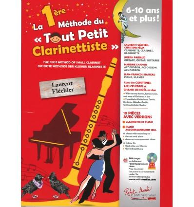 1ère Méthode du Tout Petit Clarinettiste+CD 10 pièces clar-p...