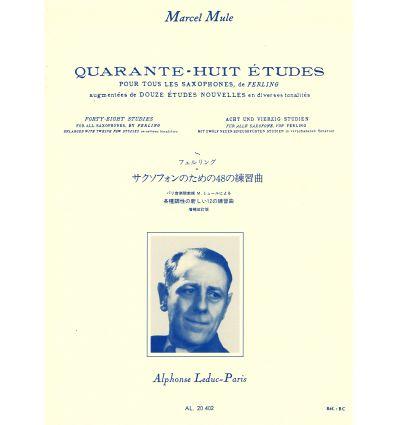 48 Etudes d'après Ferling (Nouv. éd. + 12 Etudes) ...