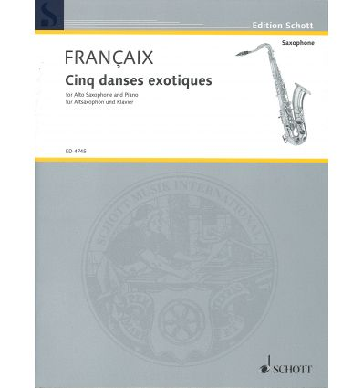 5 Danses exotiques (sax alto & piano)