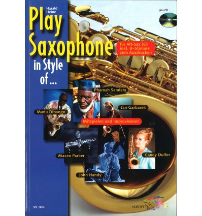 Play saxophone in style of : Candy Dulfer, Ph  San