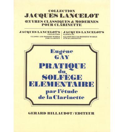 Pratique du solfège élémentaire par l'étude de la clarinette