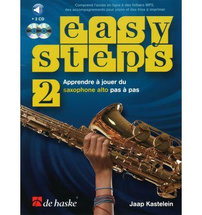 Easy Steps méthode de saxophone vol.2 + 2CD et code accès en...