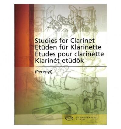 Etüden für Klarinette = 169 Studies for clarinet