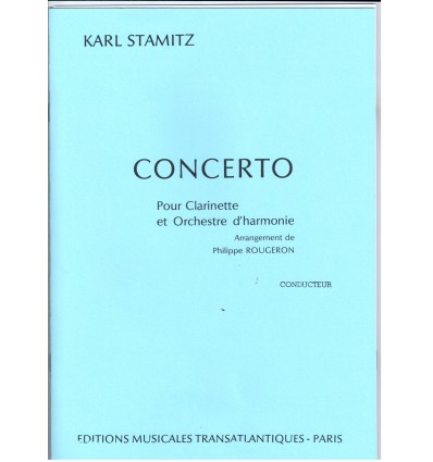 Concerto N°3, réduction clarinette & piano. Ed. Tr...