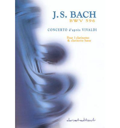 Concerto BWV 596 d'après Vivaldi (quatuor de clar....