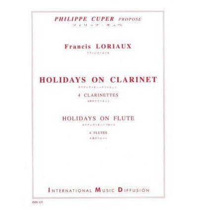 Holidays on clarinet: 4 cl. sib (ou 4 fl)