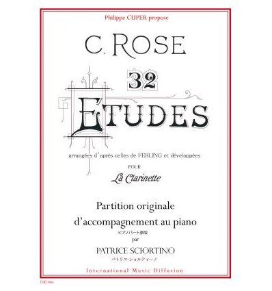 32 Etudes D'apres Ferling avec piano