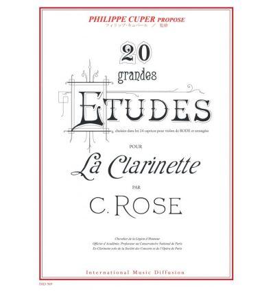 20 grandes Etudes d'après Rode, coll. Ph. Cuper, I...