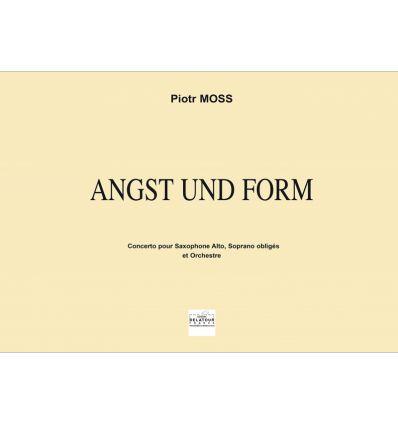 Angst und Form, concerto pour saxophone: score (tr...