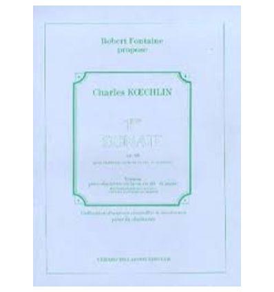 Sonate Nø1 Opus 85, Pour Clarinette En La Et Piano