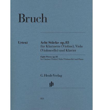 8 Stucke op.83 = 8 Pieces pour clar.(vln), alto (v...