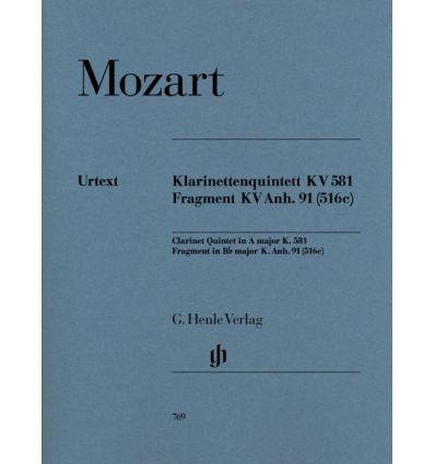 Klarinettenquintett A-dur KV 581 & Fragment KV Anh...