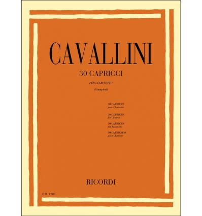30 Capricci, ed. Ricordi (= 30 Caprices) ed. Ricor...