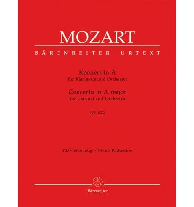 Concerto in A KV622 (Urtext, réd. cl. la ou cl. ba...