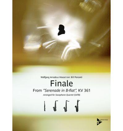 Finale from serenade in B-flat kv 361 (quat.sax :S...