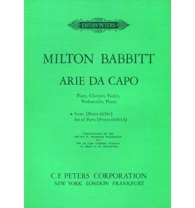 Arie Da Capo (1974) Flöte, Klar., Violine, Violonc...