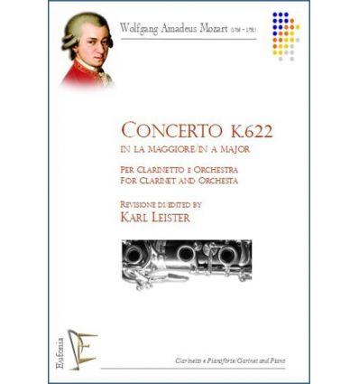 Concerto K 622 (red. cl. la & piano) ed. Eufonia P...