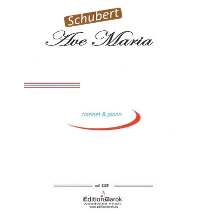 Ave Maria (clarinet and piano) do majeur, pas d'al...