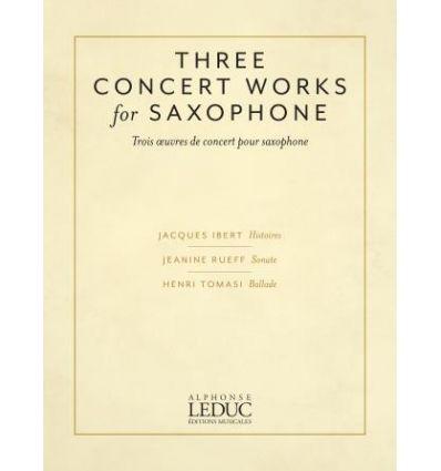 Trois oeuvres de concert pour saxophone