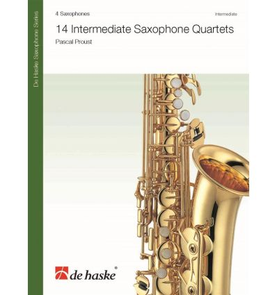 14 Intermediate Saxophone Quartets
