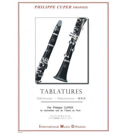 Tablature doigtés de la clarinette sur 4 octaves =...