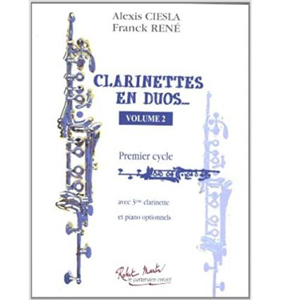 Clarinettes en duos, vol.2, 1er cycle, avec 3e cl....