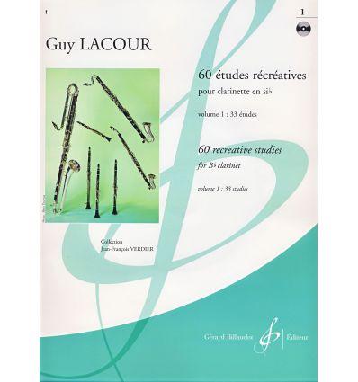 60 Etudes récréatives Vol.1, avec CD