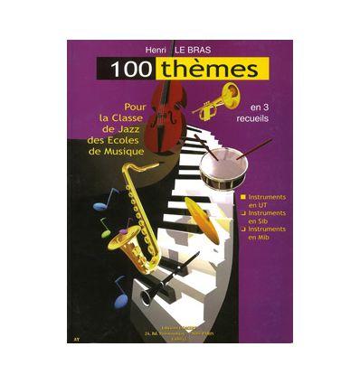 100 thèmes (rec.3: mib) pour classe jazz des écoles de musique (blues maj & min, suédois, II V I, anatole,...)