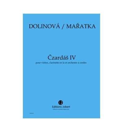 Czardas IV pour clarinette, alto et orchestre à cordes. SCORE ONLY (clar. viola and stg orch.) 2013 Parts on rental at the publi